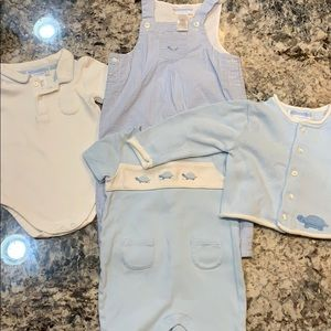 Janie and Jack Boys' 4 Piece Turtle Outfit 3-6 Mos